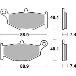 Plaquettes de frein moto SBS Sinter Arriére 833LS